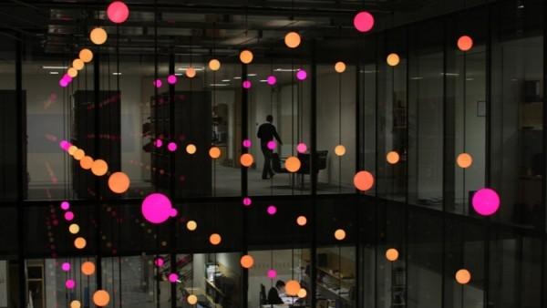 Pixel Cloud - lights at A&E Source: Jason Bruges (designer)